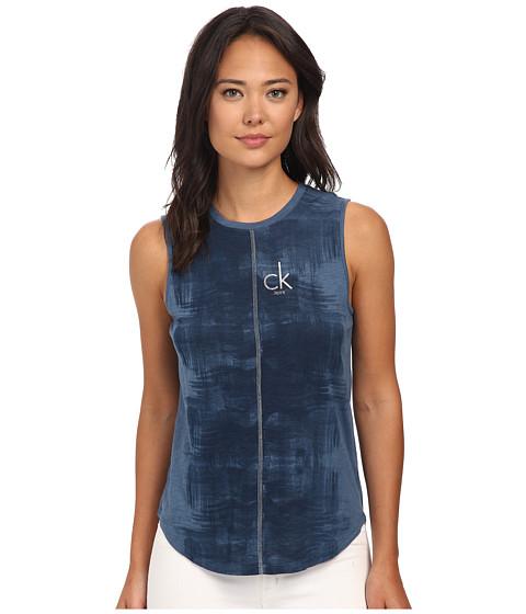 Calvin Klein Jeans - Lurex Divider Tee (Blur) Women's T Shirt