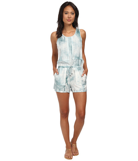 Calvin Klein Jeans - Patch Front Romper (Industrial Sage) Women