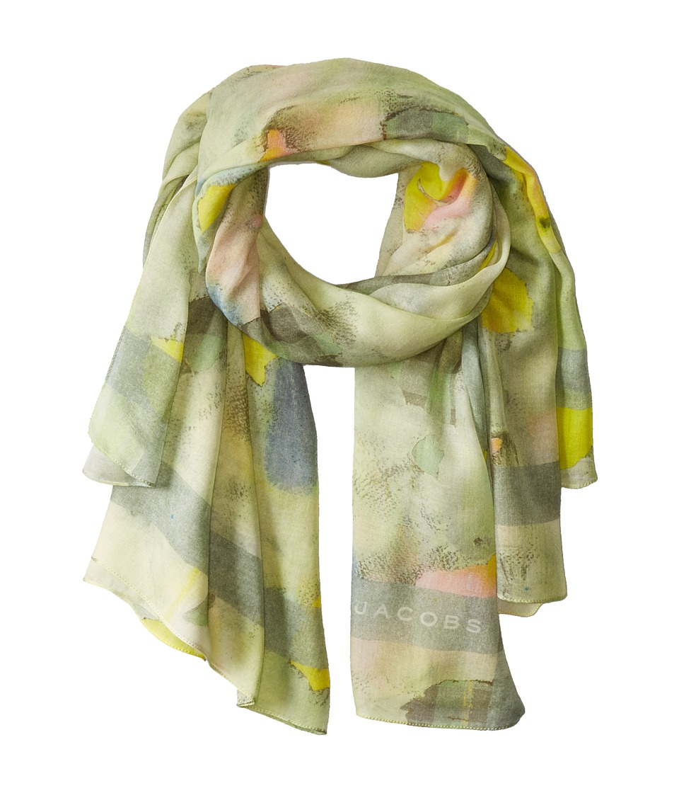 Marc by Marc Jacobs - Charlotte Paint Scarf (Washed Mint Multi) Scarves