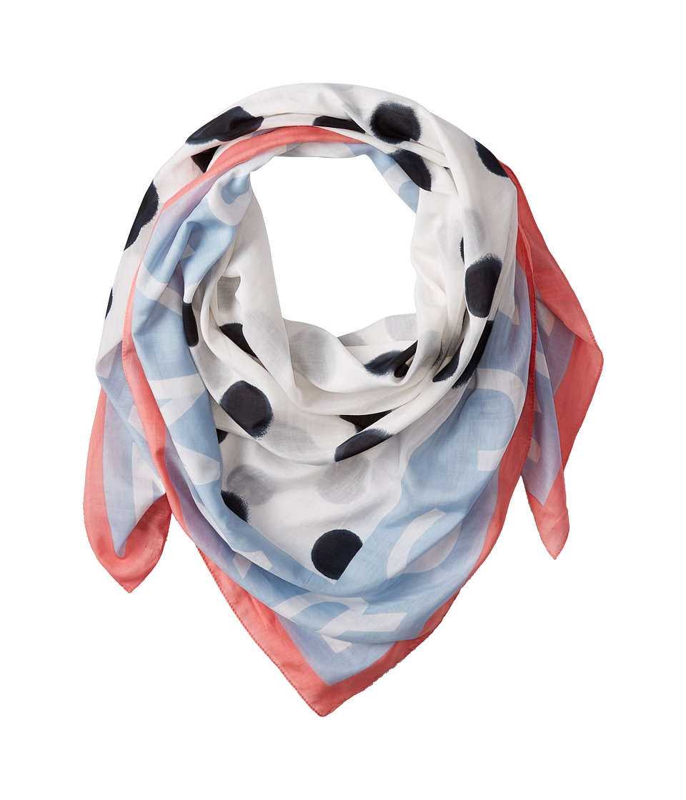 Marc by Marc Jacobs - Blurred Dot Scarf (Talc Multi) Scarves