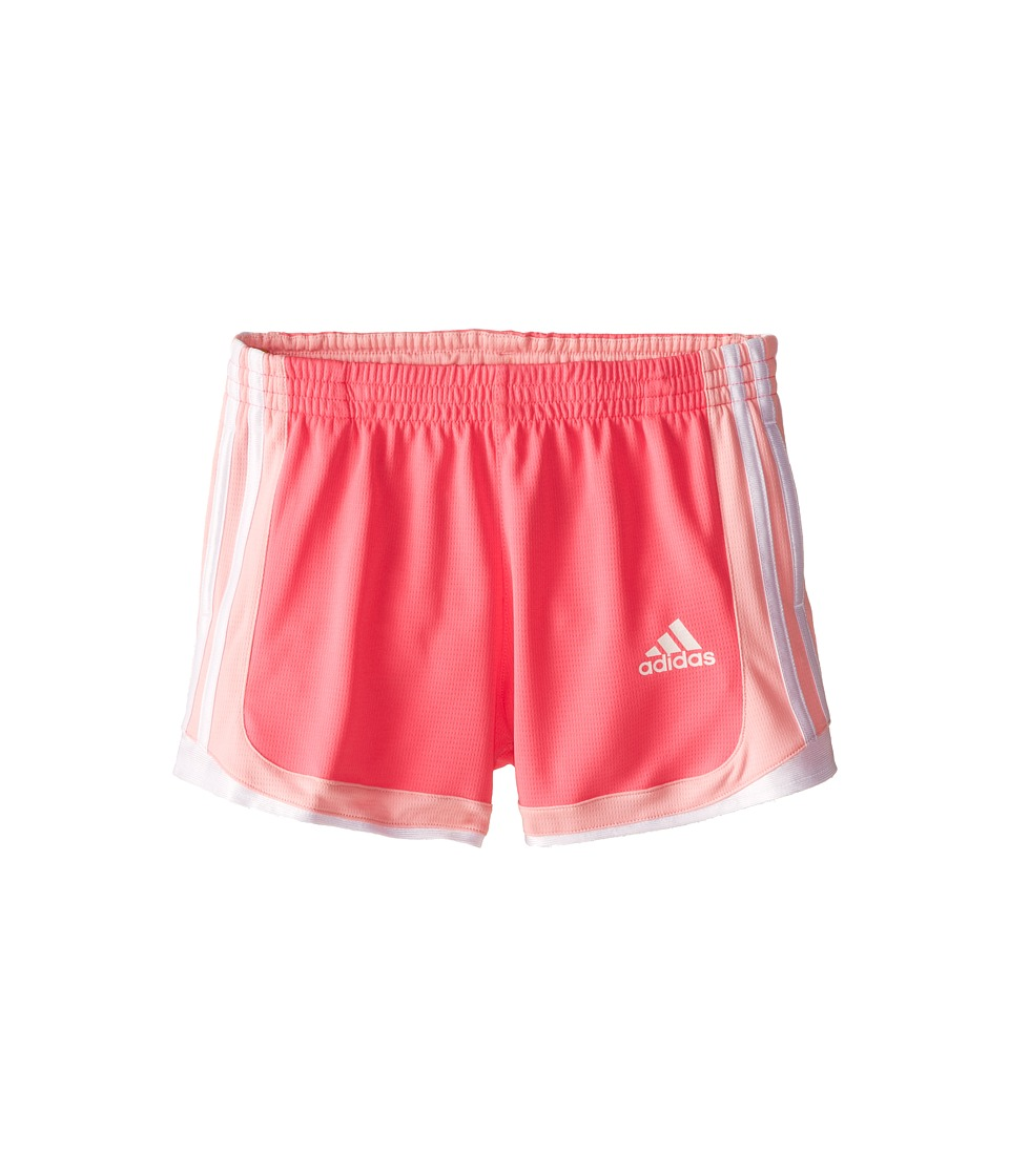 adidas Kids - P.E. Short (Little Kids/Big Kids) (Solar Pink/Light Pink) Girl's Shorts