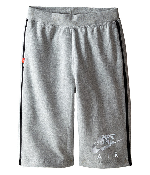 Nike Kids - YA Flash BF Shorts Air (Little Kids/Big Kids) (Dark Grey Heather/Black/Gym Red) Boy