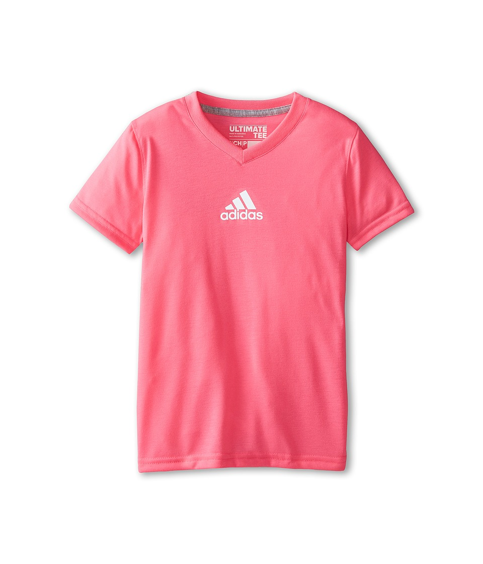 adidas Kids - Ultimate Short Sleeve Top (Big Kids) (Solar Pink) Girl