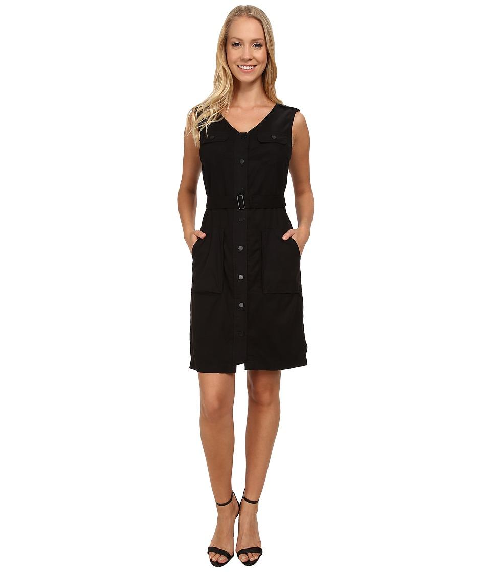 Calvin Klein Jeans - Garment Dyed Belted Dress (Black) Women's Dress