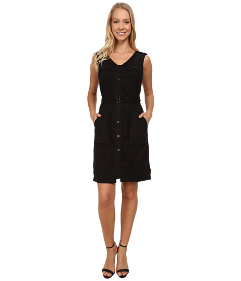 Calvin Klein Jeans - Garment Dyed Belted Dress (Black) Women's Dress