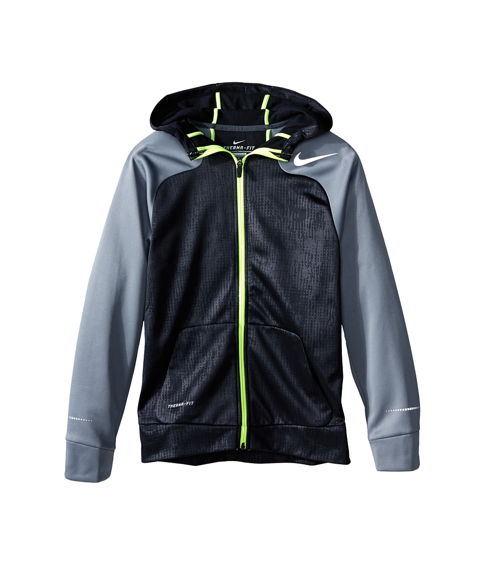 Nike Kids - Flash Hyperspeed FZ Fleece (Little Kids/Big Kids) (Black/Cool Grey/Reflective Silver) Boy's Workout