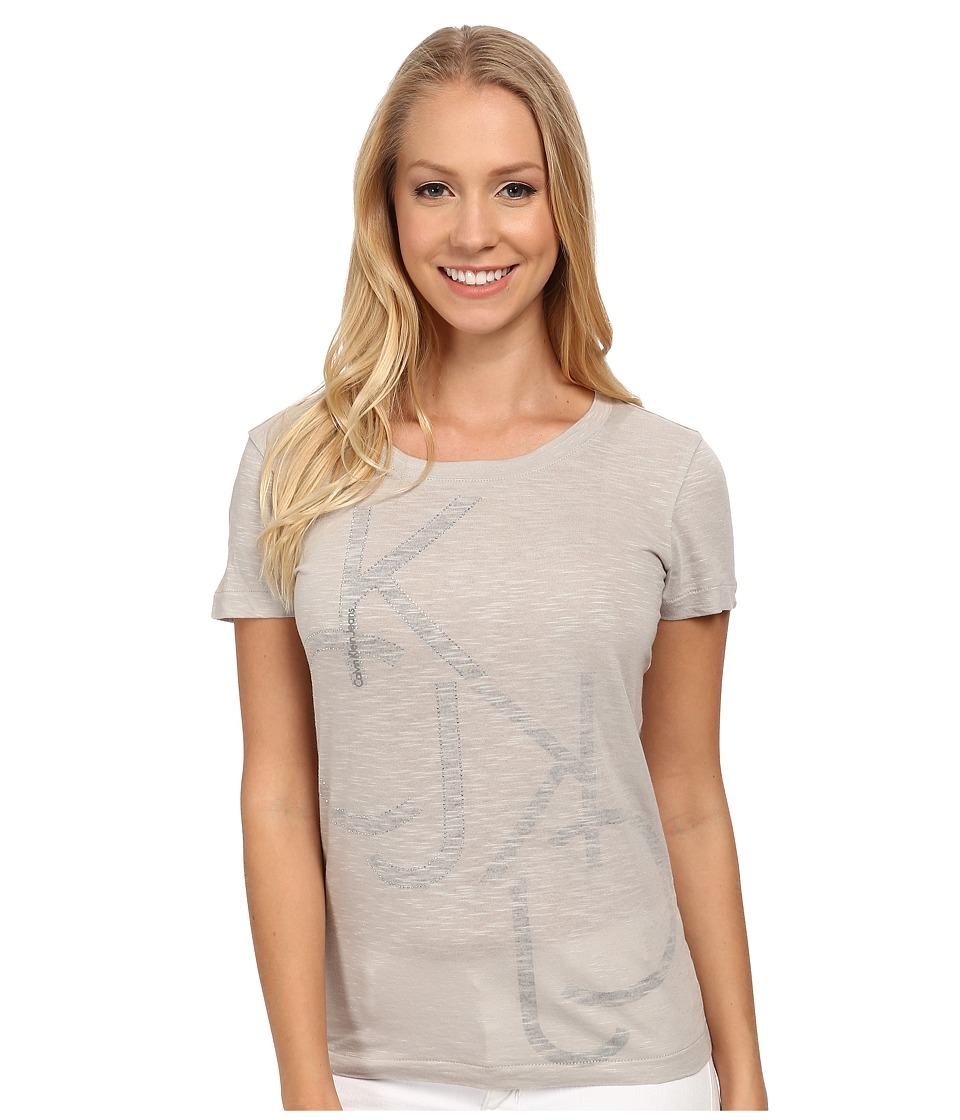 Calvin Klein Jeans - Slub Logo Tee (Vellum) Women's T Shirt