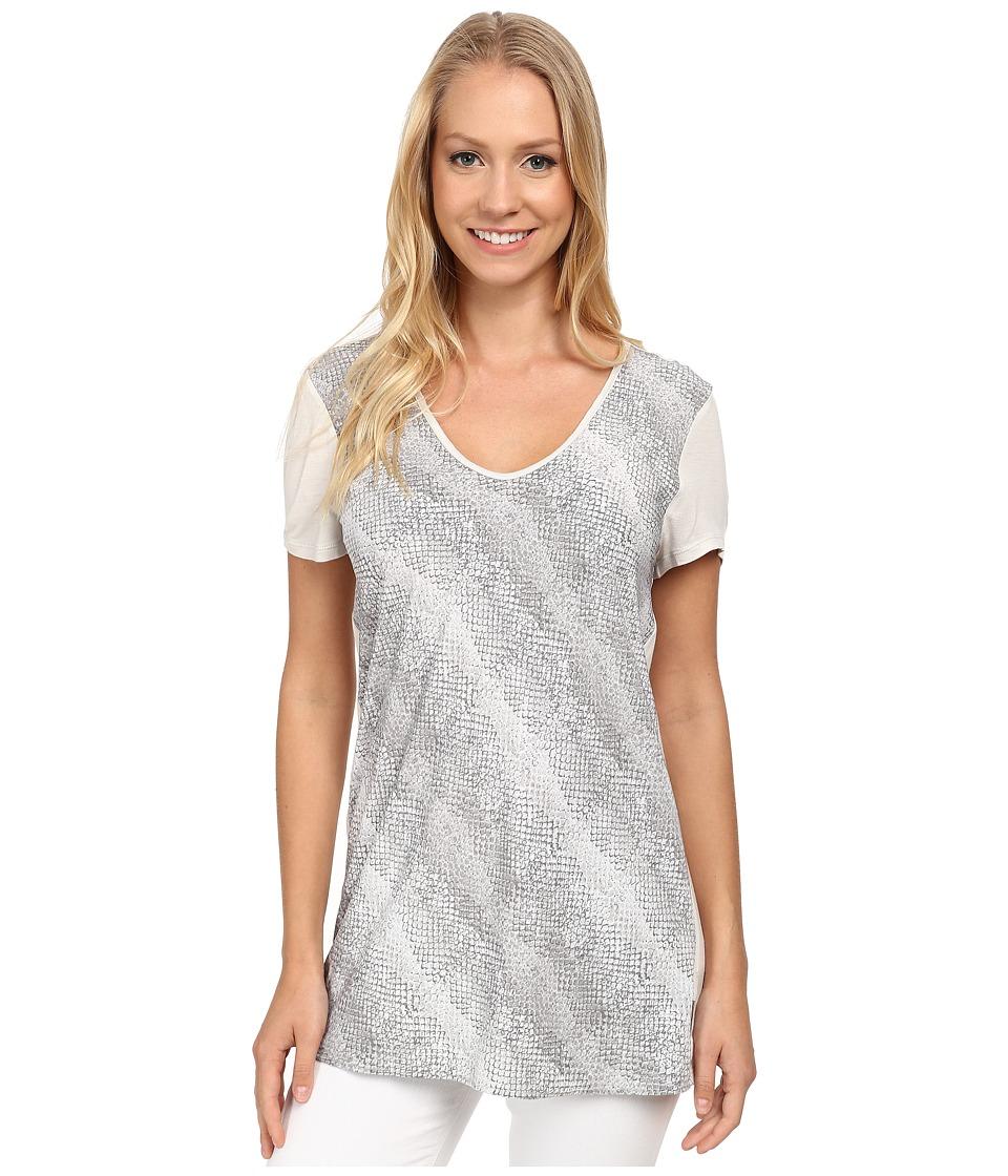 Calvin Klein Jeans - Print Block Swing Tee (Ash) Women