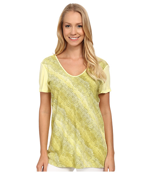 Calvin Klein Jeans - Print Block Swing Tee (Citrus Tint) Women's T Shirt