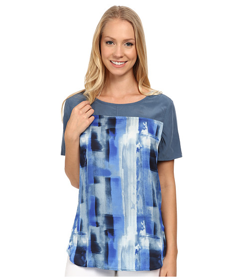 Calvin Klein Jeans - Print Block T-Shirt Blouse (Ultra Blue) Women