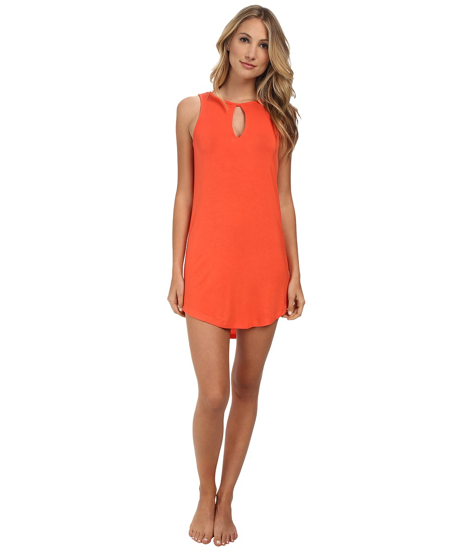 BCBGeneration - Scout The Ciao For Now Tank Dress (Salmon Wine) Women's Pajama