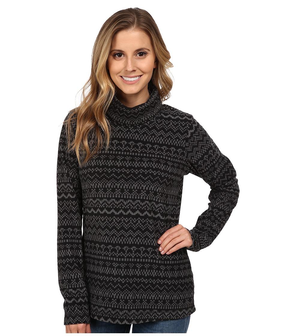 Columbia - Glacial Fleece Turtleneck (Black Fairisle) Women's Long Sleeve Pullover