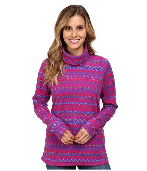Columbia - Glacial Fleece Turtleneck (Plum Fairisle) Women's Long Sleeve Pullover