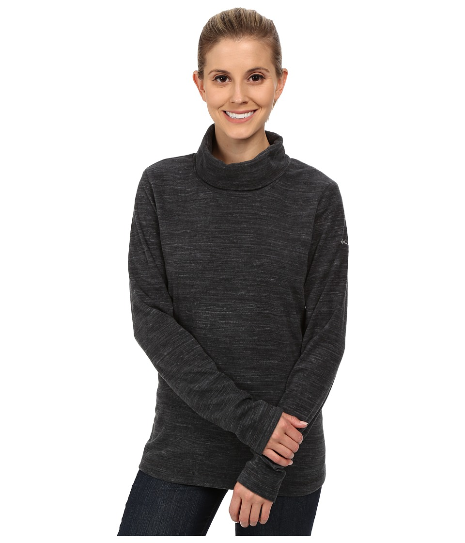 Columbia - Glacial Fleece Turtleneck (Black Spacedye) Women's Long Sleeve Pullover
