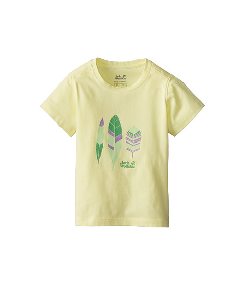 Jack Wolfskin Kids - Foliage OC Tee (Toddler/Little Kid/Big Kid) (Lemonade) Girl
