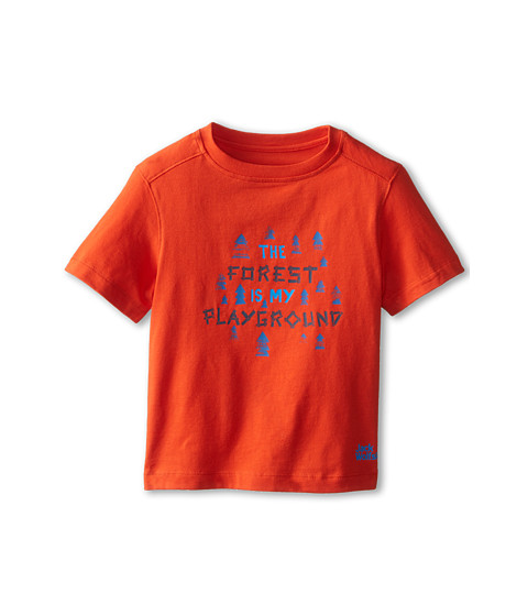 Jack Wolfskin Kids - Playground Tee (Infant/Toddler/Little Kid/Big Kid) (Bright Pumpkin) Girl