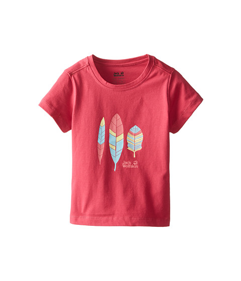 Jack Wolfskin Kids - Foliage OC Tee (Toddler/Little Kid/Big Kid) (Azalea Red) Girl