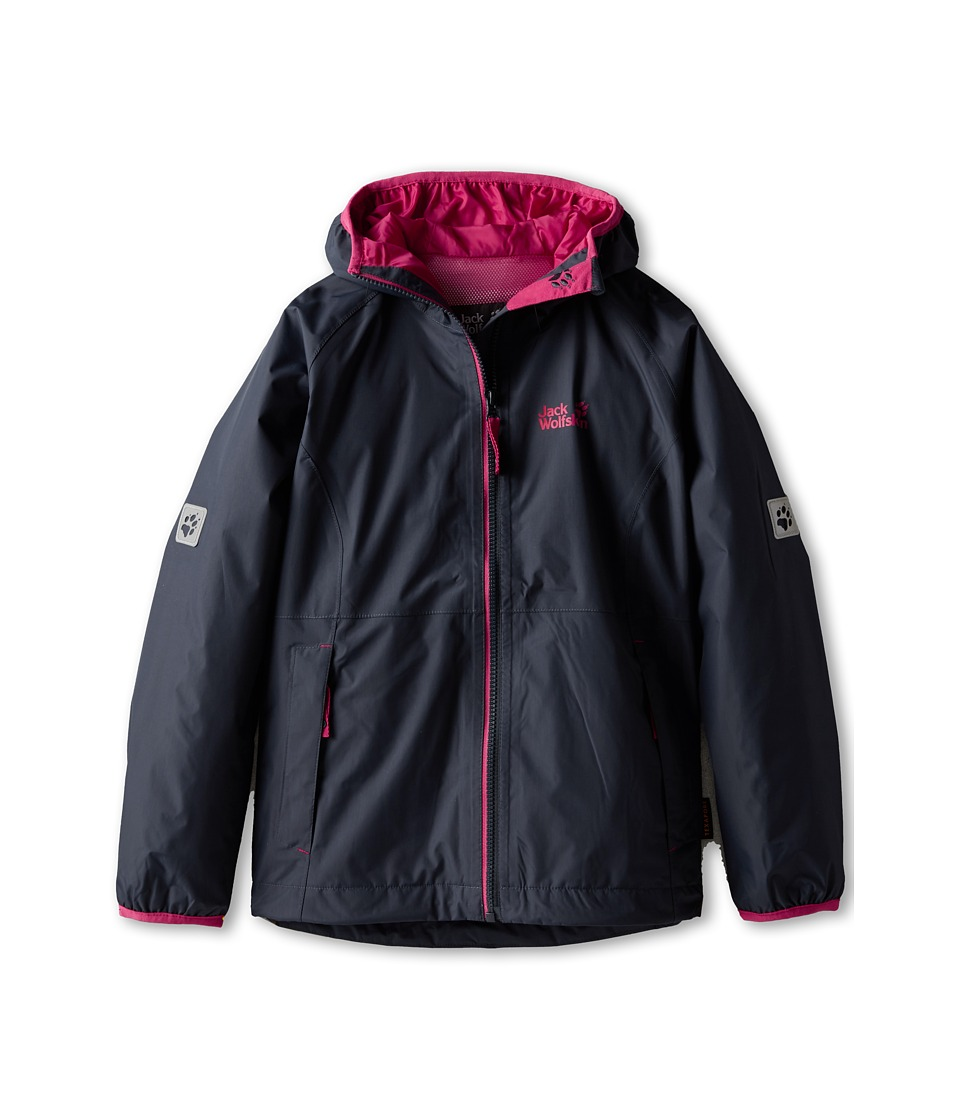Jack Wolfskin Kids - Rainy Days Texapore Jacket (Big Kid) (Night Blue) Girl's Coat