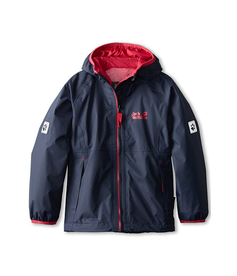 Jack Wolfskin Kids - Rainy Days Texapore Jacket (Little Kid/Big Kid) (Night Blue) Girl's Coat
