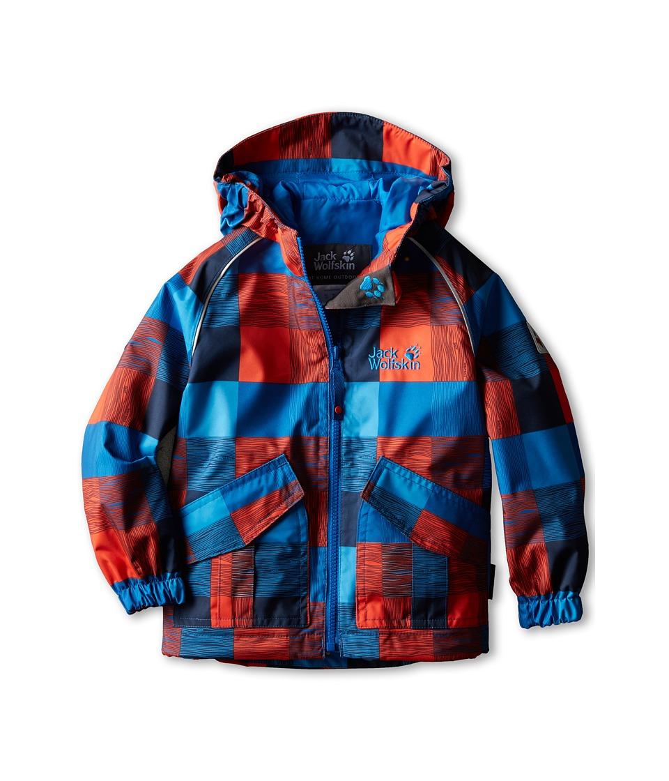 Jack Wolfskin Kids - Conkers Jacket (Infant/Toddler/Little Kid/Big Kid) (Classic Blue Checks) Boy's Coat