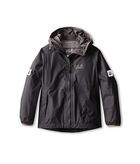 Jack Wolfskin Kids - Rainy Days Texapore Jacket (Toddler/Little Kid/Big Kid) (Black) Boy's Coat