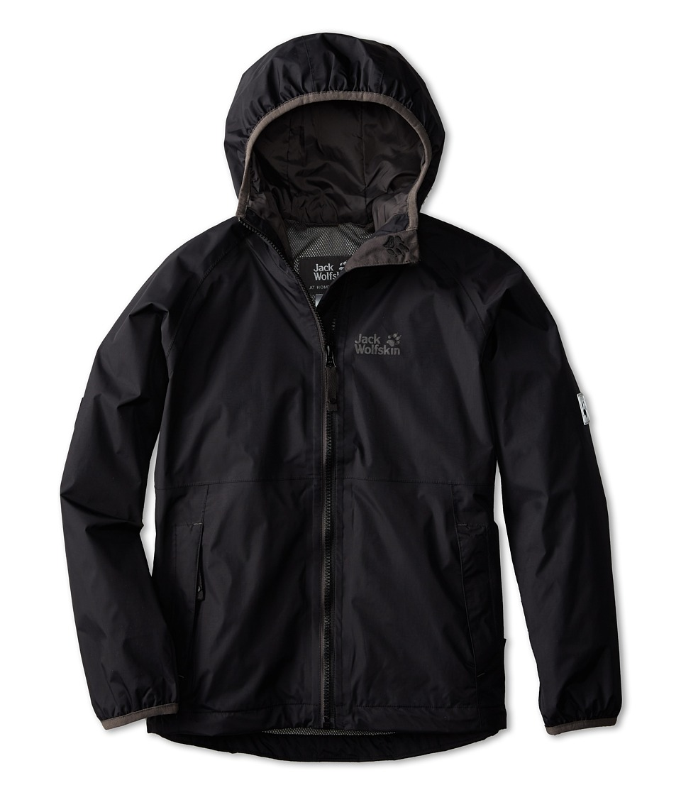 Jack Wolfskin Kids - Rainy Days Texapore Jacket (Big Kid) (Black) Boy's Coat