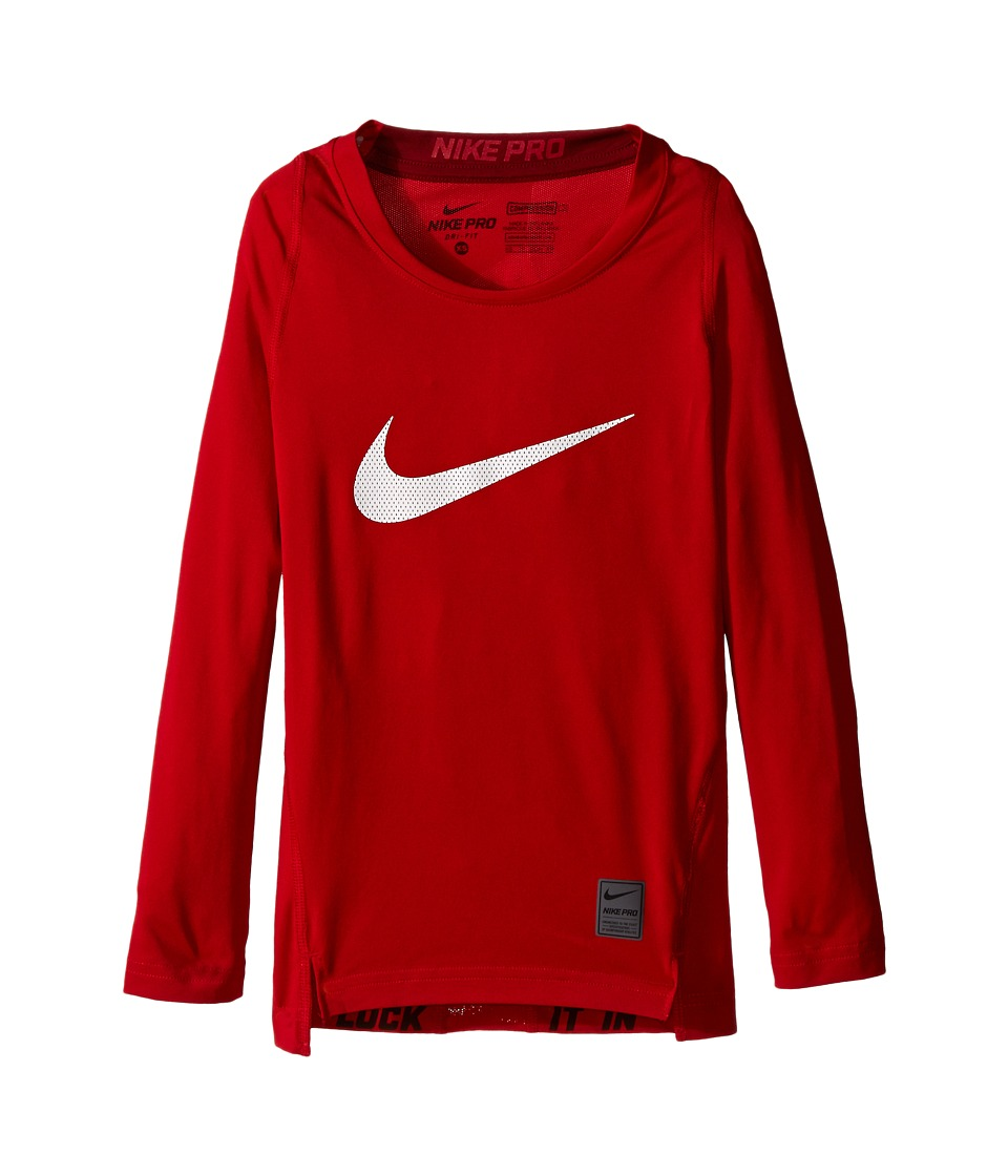 Nike Kids - Cool HBR Comp Long Sleeve (Little Kids/Big Kids) (Gym Red/Team Red/White) Boy's Workout