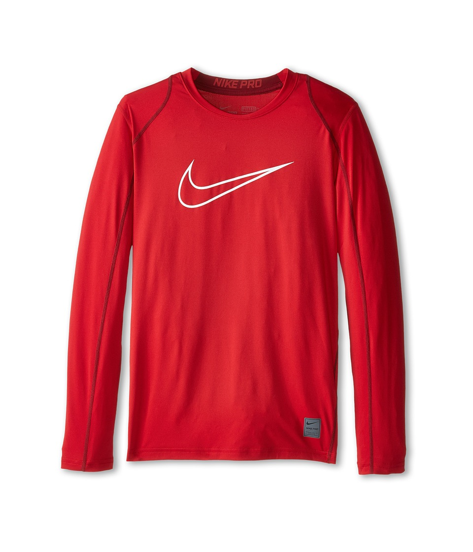 Nike Kids - Cool HBR Fitted Long Sleeve (Little Kids/Big Kids) (Gym Red/Team Red/White) Boy's Workout
