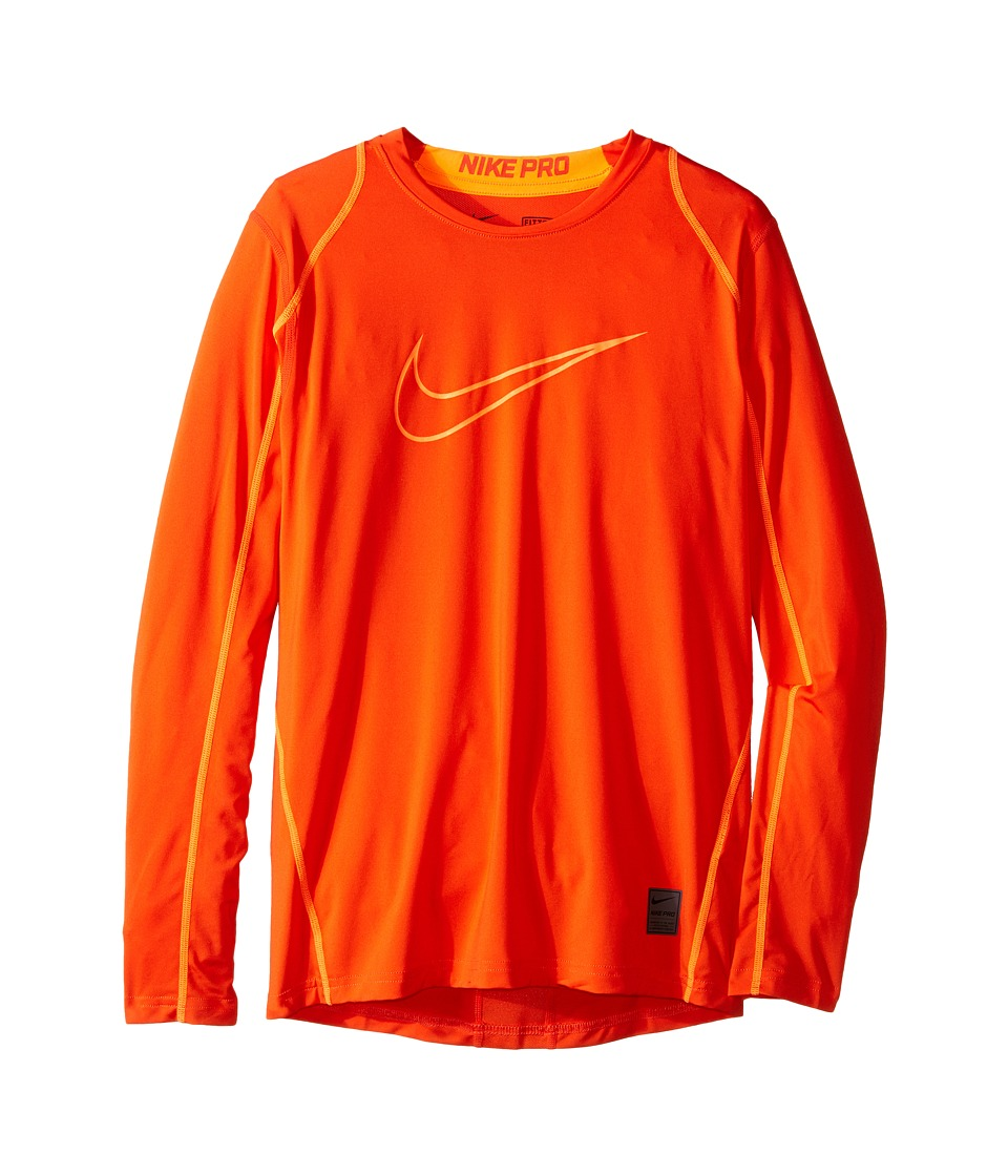 Nike Kids - Cool HBR Fitted Long Sleeve (Little Kids/Big Kids) (Team Orange/Total Orange/Total Orange) Boy's Workout