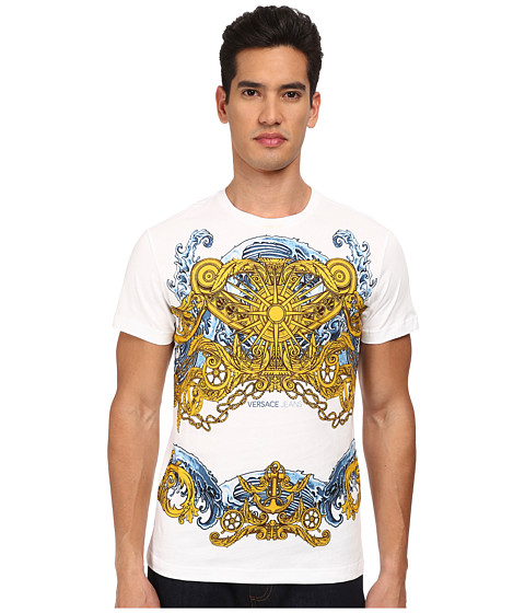 Versace Jeans - Compass and Anchor T-Shirt (White) Men