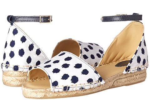 Oscar de la Renta Childrenswear - Ikat Dot Cotton Espadrille (Toddler/Little Kid/Big Kid) (Optic White) Girl