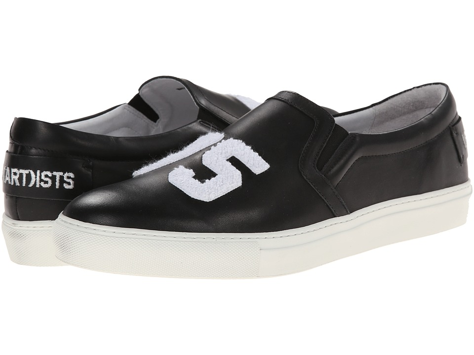 SWEAR - Les(Art)ists 1 (Black Smooth Leather) Slip on Shoes