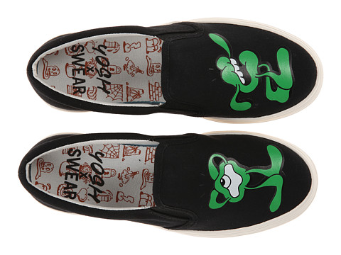 SWEAR - Yosh X Swear 2 (Black Canvas Green Print) Shoes