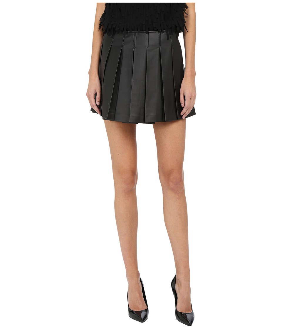 Armani Jeans - Leather Mini Skirt (Black) Women's Skirt