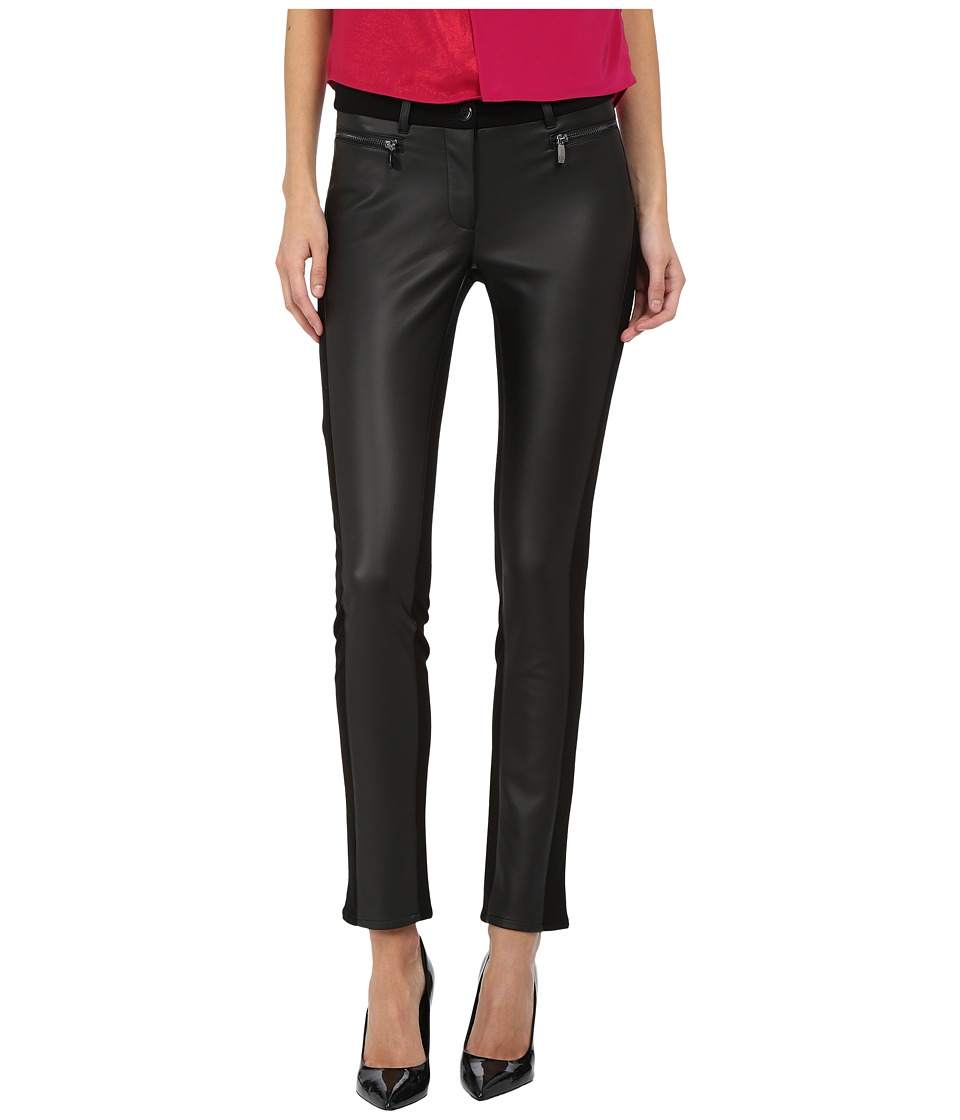 Armani Jeans - Leather Pointy Pants (Black) Women's Casual Pants