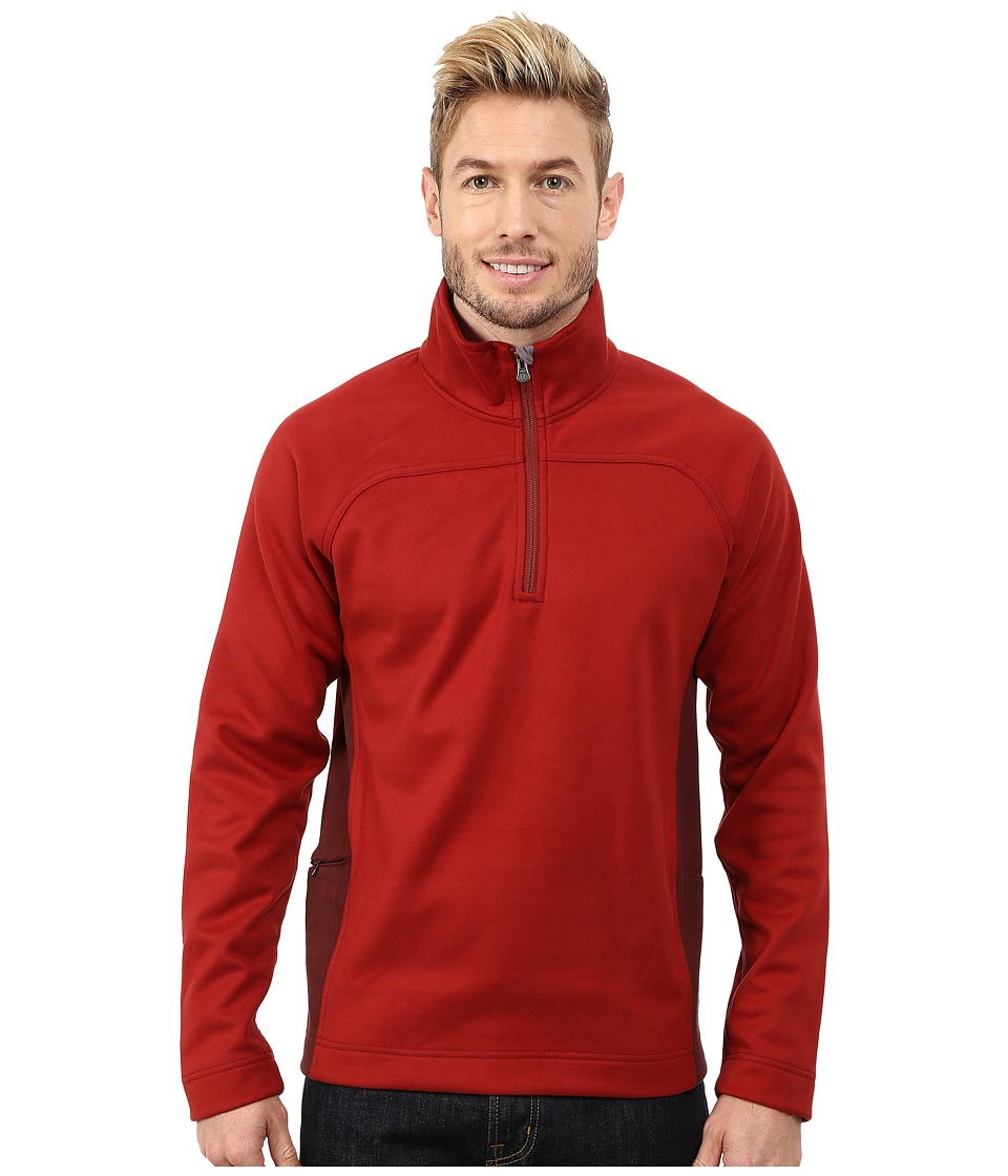 Royal Robbins - Cannon 1/2 Zip (Dark Firecracker) Men's Long Sleeve Pullover