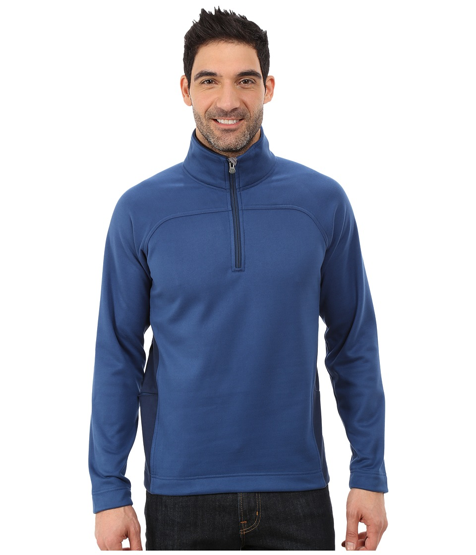 Royal Robbins - Cannon 1/2 Zip (Lunar Blue) Men's Long Sleeve Pullover