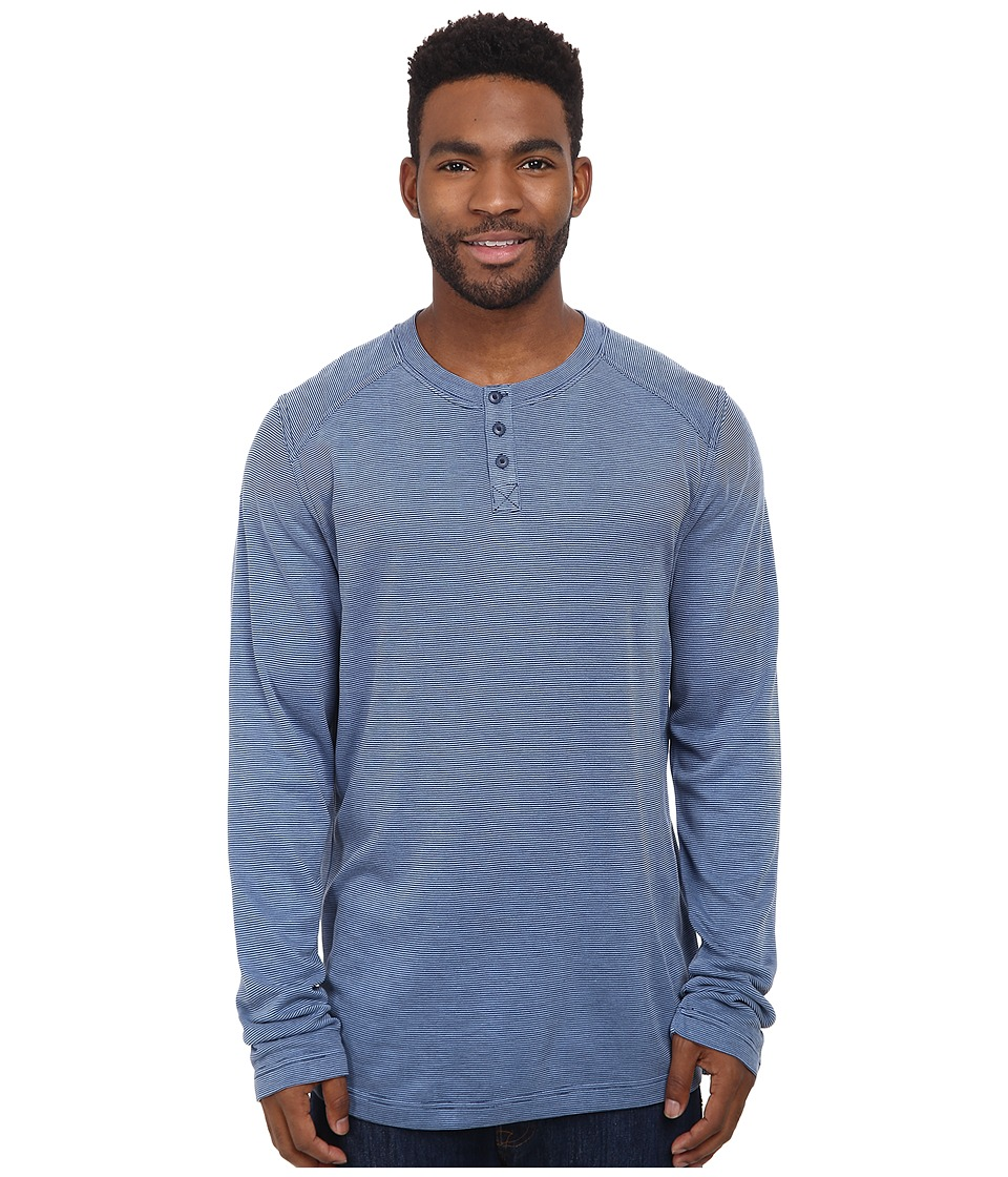 Royal Robbins - Mojave Henley (Lunar Blue) Men's Long Sleeve Pullover