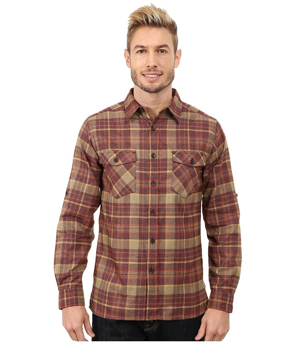 Royal Robbins - Boulder Plaid Long Sleeve Shirt (Merlot) Men's Long Sleeve Button Up