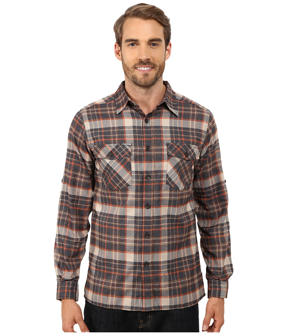 Royal Robbins - Boulder Plaid Long Sleeve Shirt (Eclipse) Men's Long Sleeve Button Up