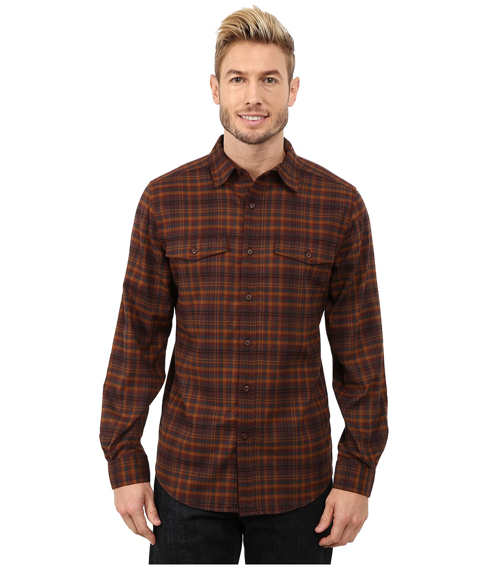 Royal Robbins Mason Plaid Long Sleeve Shirt (Walnut) Men