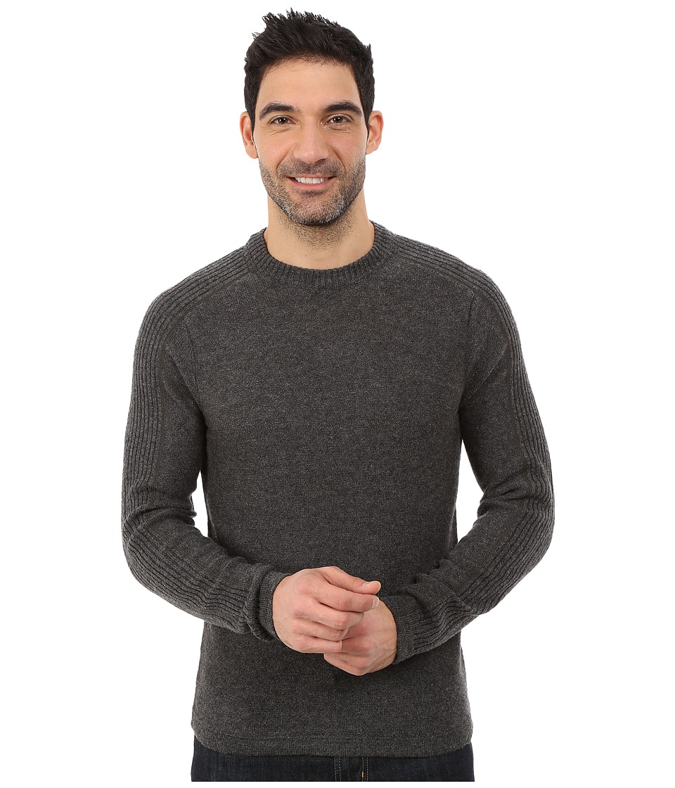 Royal Robbins - Fireside Wool Crew Pullover (Charcoal) Men's Long Sleeve Pullover