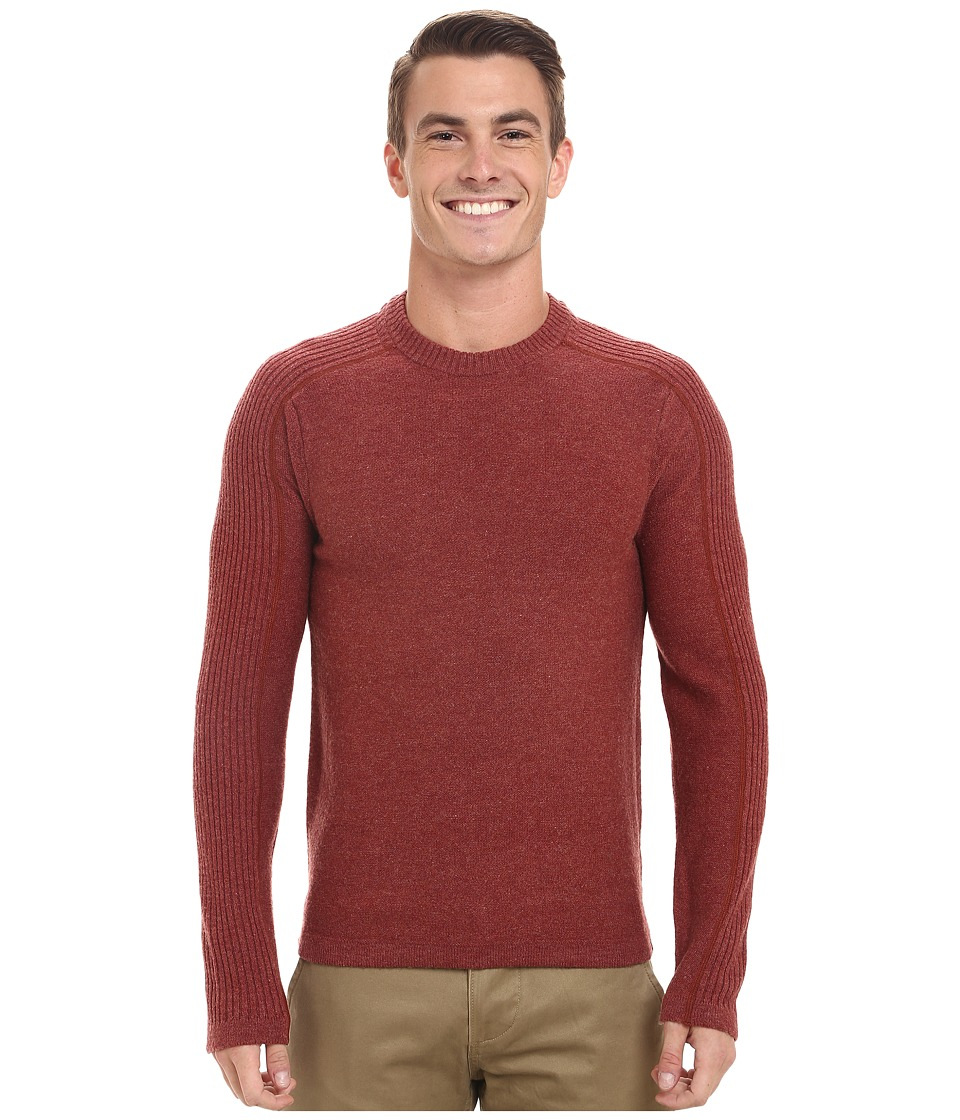 Royal Robbins - Fireside Wool Crew Pullover (Dark Ember) Men's Long Sleeve Pullover