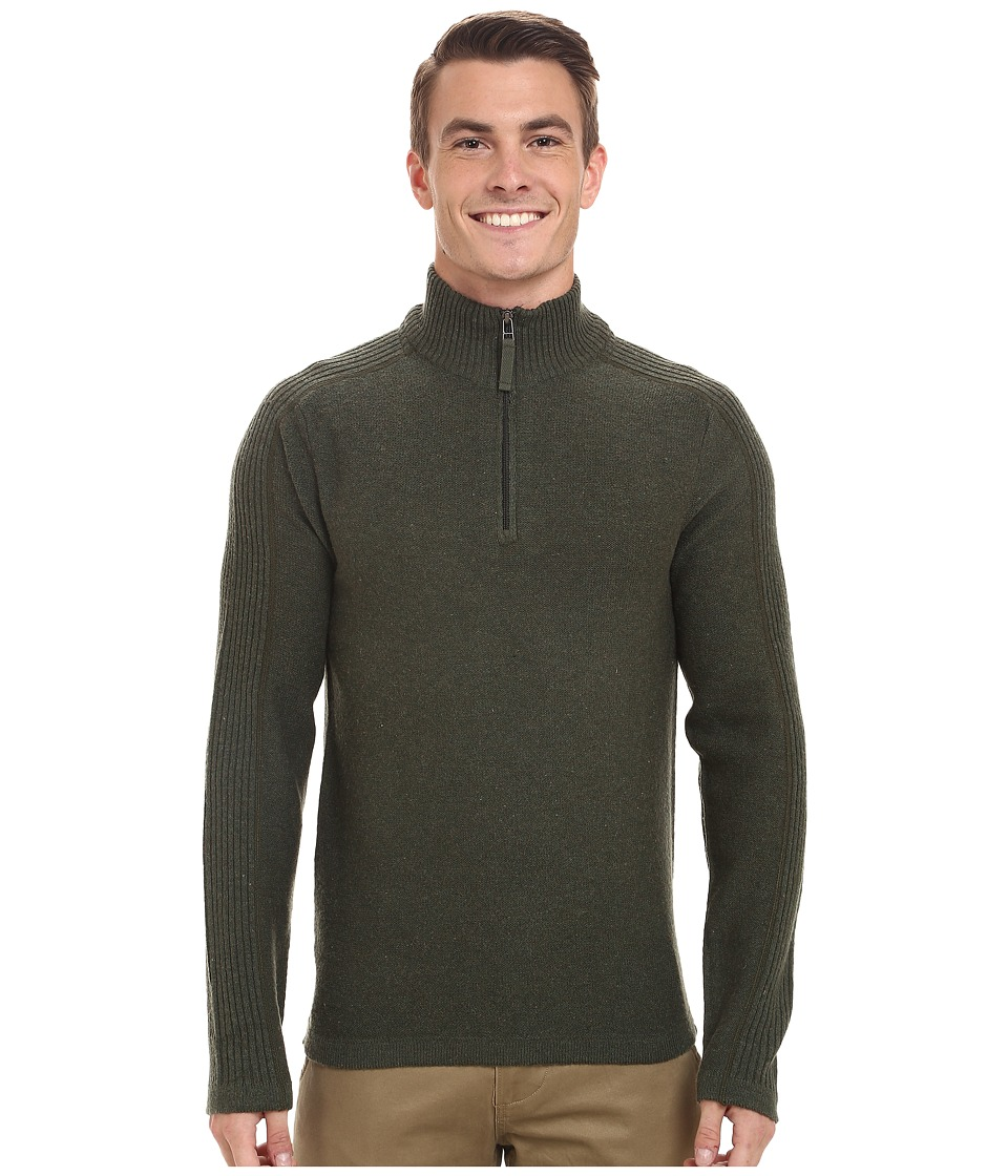 Royal Robbins - Fireside Wool 1/4 Zip Sweater (Mangrove Green) Men's Sweater