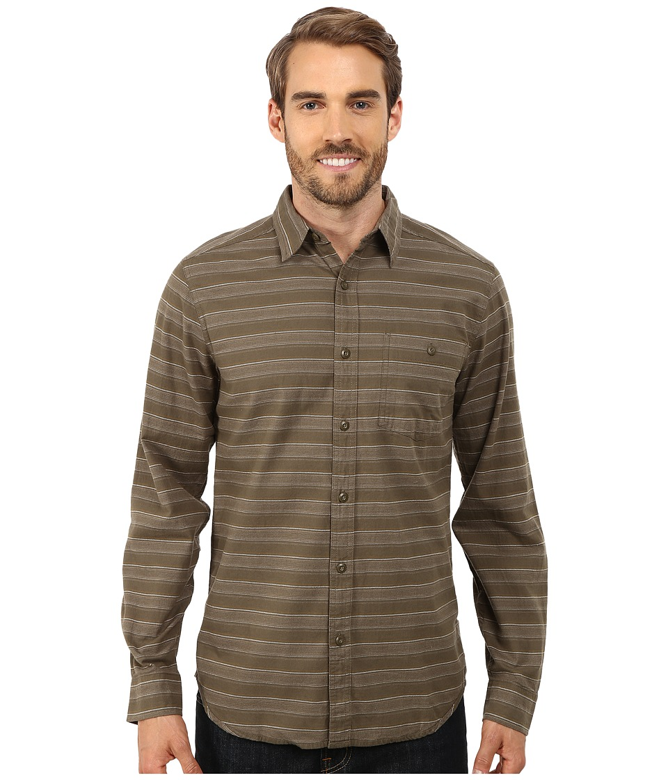 Royal Robbins Sierra Stripe Long Sleeve Shirt (Light Olive) Men