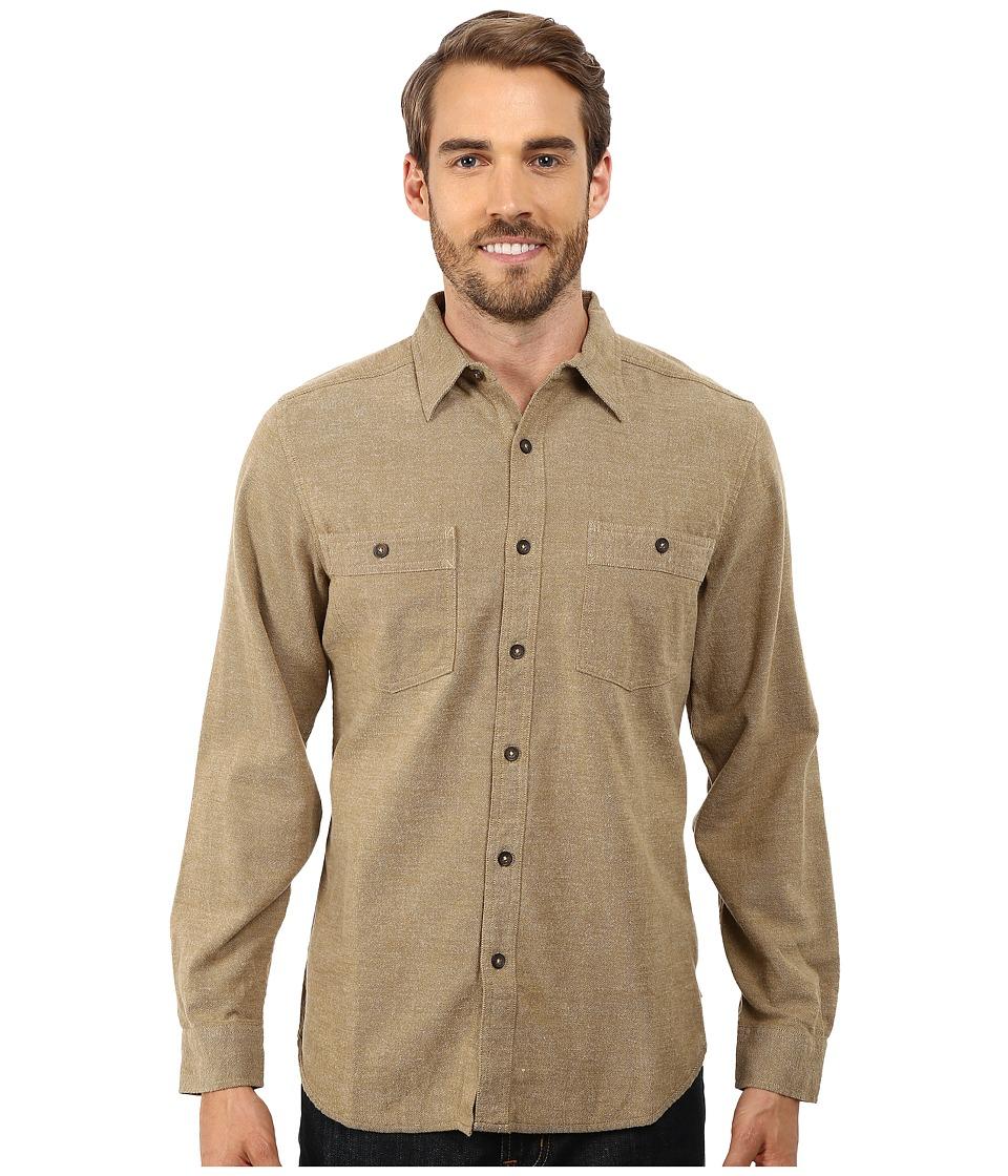 Royal Robbins - Bristol Tweed Long Sleeve Shirt (True Khaki) Men's Long Sleeve Button Up