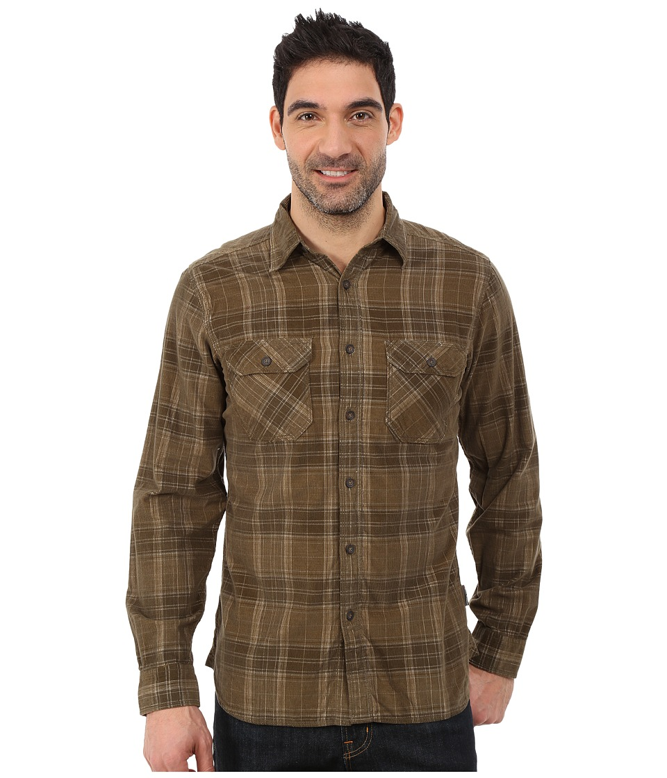 Royal Robbins - Colville Cord Long Sleeve Shirt (Fatigue Green) Men's Long Sleeve Button Up