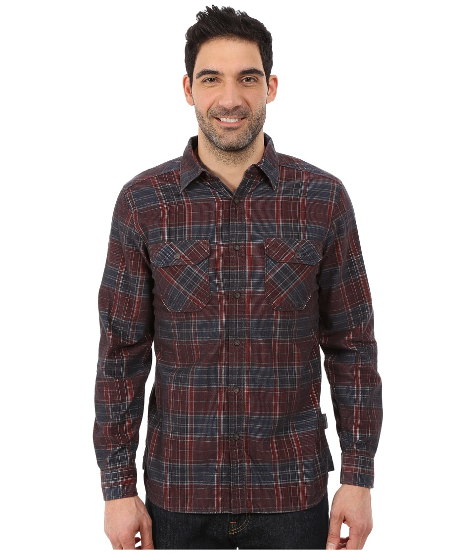 Royal Robbins - Colville Cord Long Sleeve Shirt (Dark Ember) Men's Long Sleeve Button Up