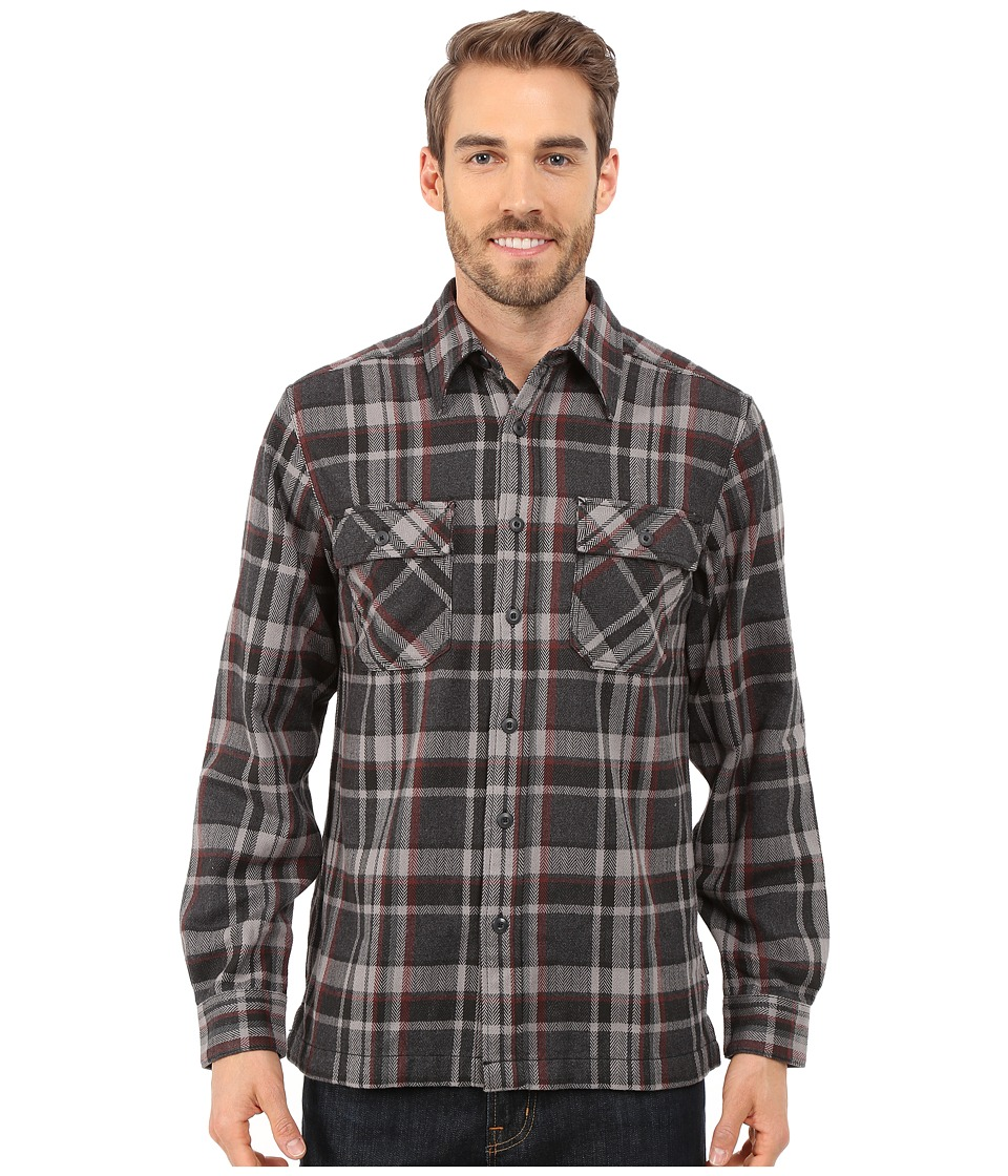 Royal Robbins - Log Jam Long Sleeve Shirt (Charcoal) Men's Long Sleeve Button Up