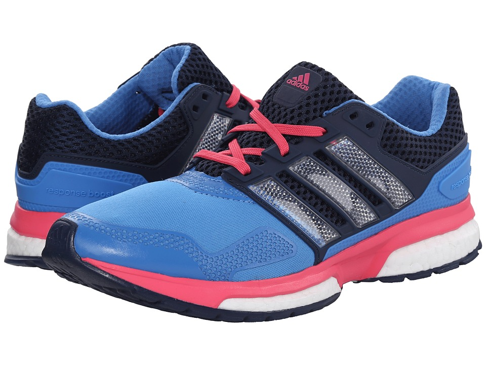 adidas Running - Response Boost 2 Techfit (Super Blue/Collegiate Navy/Super Pink) Women's Running Shoes
